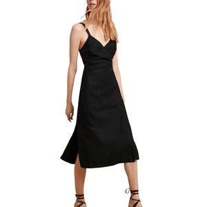 Aritzia Wilfred Astere Wrap Midi Dress // Black